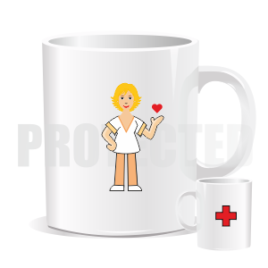 Hrnek – Sanitárka / ošetřovatelka / pečovatelka světlovláska