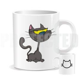 Hrnek – Šedá kočka